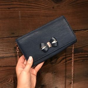 Ted Baker Bowii Bow mini clutch